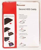 """Карман-переходник 9.5 мм для установки второго жесткого диска 2.5"""" SSD/HDD SATA 3.0 в отсек DVD (optibay caddy) - изображение 2"""