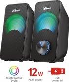 Акустическая система Trust Arys Compact RGB 2.0 Speaker Set Black (23120) - изображение 3