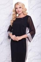 """Платье """"Вирджиния"""" (черный) 52 (XXL) - изображение 2"""