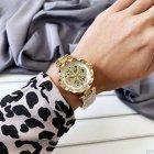 Наручний годинник AlexMosh жіночі Forsining Gold-White Flower Diamonds - зображення 4