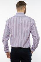 Рубашка классического покроя Time of Style 120PAR036 41-42 Фиолетовый/белый - изображение 5