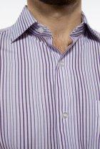 Рубашка классического покроя Time of Style 120PAR036 41-42 Фиолетовый/белый - изображение 6