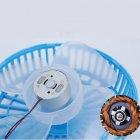 Ручной мини вентилятор трансформер Kronos handy mini fan с аккумулятором 18650 White (gr_007249) - изображение 6