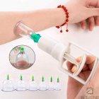 Вакуумные антицеллюлитные массажные пластиковые банки DYKL - с насосом для вакуумного массажа всего тела 12шт набор, белые - изображение 9