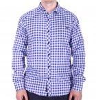 Рубашка батал Rigans турция b0118/1 синяя XXL - изображение 1