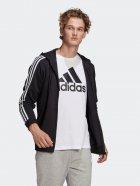 Толстовка Adidas M 3S Ft Fz Hd GK9032 2XL Black/White (4064045199279) - зображення 3