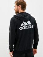 Толстовка Adidas M Bl Ft Fz Hd GK9044 S Black/White (4064045156982) - зображення 2