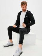 Толстовка Adidas M Bl Ft Fz Hd GK9044 S Black/White (4064045156982) - зображення 3