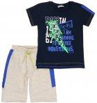 Костюм (футболка + шорты) Mackays 2650-047 122-128 см Темно-синий с серым (ROZ6205088326) - изображение 1