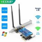 Сетевая плата EDUP EP-9619 PCI-E WiFi AC + Bluetooth 4.0 2.4/5.8Ghz двухдиапазонная 600Mbps - изображение 4