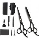 Набір Професійних Перукарських Ножиць Lantoo + Аксесуари для Стрижки Волосся: Гребінці, Затискачі, Накиду, Щітка, Органайзер (LFJ-133) - зображення 1