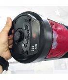 Портативная колонка Column BT ZQS-4209 USB беспроводная музыкальная Bluetooth с блютуз LED подсветкой и FM - радио для улицы и дома - Переносная акустическая система с пультом д/у и TF-card + USB + AUX, Красная - изображение 9