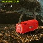Портативная колонка Hopestar H24 pro музыкальная акустическая Bluetooth с громким звуком и влагозащитой IPX6 - Переносная USB система со встроенным микрофоном + мощный громкоговоритель - карта памяти micro SD + TWS + FM-радио, Красный - изображение 4
