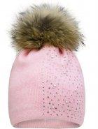 Зимняя шапка с завязками David's Star 21438 52 Розовая (ROZ6400024798) - изображение 1