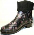 Жіночі гумові чоботи ALS 351-56-241 39 темно-сірий+коричневий+чорний ALS XA-3A 203 SB - зображення 3
