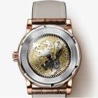 Годинники чоловічі Lobinni Business механічні з автопідзаводом, 25 каменів і шкіряним ремінцем + сапфірове скло Коричневий/Золотистий - зображення 6