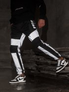 Спортивные штаны карго BEZET Black/Reflective' 21 1412 M Черные (ROZ6400031504) - изображение 1