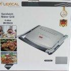 Гриль електричний для будинку контактний притискної барбекю з антипригарним гранітним покриттям Lexical 2000W (LSM-2506) - зображення 8