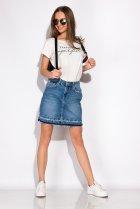 Спідниця джинсова 148P084 (Світло-синій) T&M XL Розмір колір Світло-синій - зображення 2