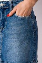 Юбка джинсовая 148P084 (Светло-синий) T&M XL Размер цвет Светло-синий - изображение 5