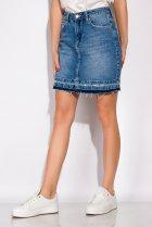 Спідниця джинсова 148P084 (Світло-синій) T&M M Розмір колір Світло-синій - зображення 3