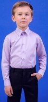 Рубашка Zironka Classic Boy 42-9003-4 122 см Сиреневая (ROZ6205115671) - изображение 4