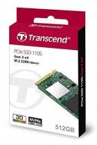 Накопичувач SSD 512GB Transcend MTE110S M. 2 2280 PCIe 3.0 x4 3D TLC (TS512GMTE110S) - зображення 2