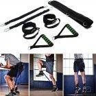 Тренажер еспандер Vertical High Jump Trainer з регульованими манжетами для рук і ніг для жінок і чоловіків - з регульованим ременем і м'яким поясом - універсальні, Чорний - зображення 7