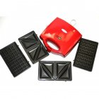 Гриль електричний прес для будинку WIMPEX 750 Вт кращий електрогриль сэндвичница бутербродниця домашній для барбекю контактний настільний притискної мультипекарь червоний WX1056RG - зображення 5