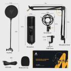 Мікрофон конденсаторний Maono AU-PM421 зі стійкою, павуком та поп-фільтром + USB і вітрозахист Чорний - зображення 4