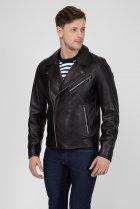 Мужская черная кожаная косуха MOTORCYCLE Calvin Klein 48 K10K103427 - изображение 2