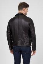 Мужская черная кожаная косуха MOTORCYCLE Calvin Klein 48 K10K103427 - изображение 3