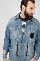 Чоловіча блакитна джинсова куртка D-SERLE Diesel S A01959 009SA - зображення 5