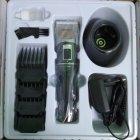 Профессиональная аккумуляторная машинка для стрижки волос Promotec PM 362 NEW l 10 Вт ножи с керамики и титана Led-дисплей 4 насадки + подставка (LO096) - изображение 3