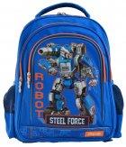 Рюкзак школьный 1 Вересня S-22 Steel Force для мальчиков 0.68 кг 29х37х12 см 12 л (556345) - изображение 2