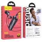 Bluetooth аудио ресивер (адаптер) с наушниками Hoco E52 Black - изображение 7