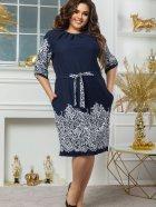 Платье Seven 660 48-50 Темно-синий с белым (4821000049259) - изображение 1