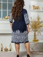 Платье Seven 660 48-50 Темно-синий с белым (4821000049259) - изображение 2
