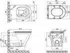 Унитаз подвесной QTAP Scorpio QT1433053ERW безободковый с сиденьем Slim Soft Close - изображение 12