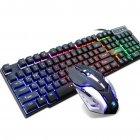 Професійна провідна ігрова клавіатура c динамічною RGB підсвіткою і мишкою PETRA MK1 (MK1) - зображення 1