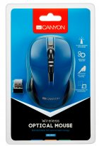 Миша Canyon CNE-CMSW1BL Wireless Black/Blue - зображення 3