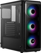 Корпус Aerocool SI-5200 Frost-A-BK-v1 RGB Acrylic Side Panel Black - изображение 1