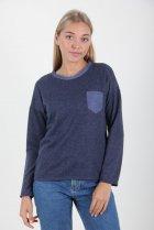 Джемпер MissFashion с круглой горловиной 46 Синий (2000000029344) - изображение 1