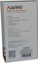 Зовнішня кишеня Maiwo для M.2 SSD NVMe (PCIe) / M.2 SSD SATA — USB 3.1 Type-C (K1687P2) - зображення 14