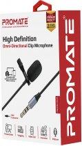 Микрофон Promate ClipMic-AUX 3.5 мм Black (clipmic-aux.black) - изображение 4