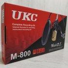 Студійний конденсаторний мікрофон UKC M-800 зі стійкою і вітрозахистом Чорно-золотий - зображення 3