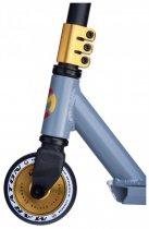 Трюковий самокат Maraton Versa з рульовою системою HIC + 2 пеги, Золоті колеса - зображення 2