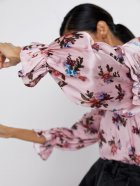Блузка Zara 1932-224-330-AASC S Розовая (3000002728657) - изображение 5