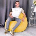 Крісло Мішок Груша Замша 150х100 Студія Комфорту розмір Великий Жовтий - зображення 4