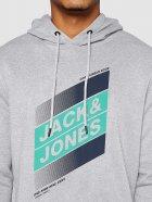 Худі Jack & Jones 12182463-54013 L Light Grey Melange (5714918570115) - зображення 4